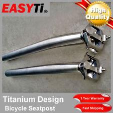 EasyTi Offset/Setback/Layback 8 Shape Titanium Seatpost 27.2mm/31.6mm for MTB