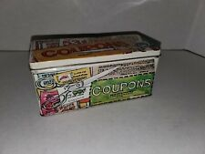 Vintage Enesco Giftware Coupon Tin Scissors