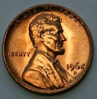 1964 D Lincoln Memorial Cent Choice BU Penny US Coin