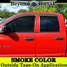 For 2002-2008 Dodge Ram Quad/Crew Cab 4PC Smoke Door Window Visor Rain Guards