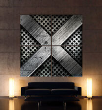 HEAVY METAL x fotos de lona Hierro Art Impresión Artística Mural Abstracto Negro