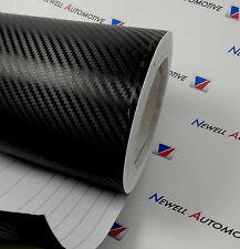 3D Black Carbon Fibre Vinyl Car Wrap - Film Decal (Air/Bubble Free) 100cm