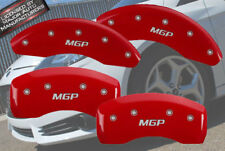 "2016-2018 Chevy Volt Front + Rear Red ""MGP"" Brake Disc Caliper Covers 4pc Set"