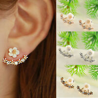 Fashion Women Jewelry Elegant Crystal Rhinestone Ear Stud Daisy Flower Earrings