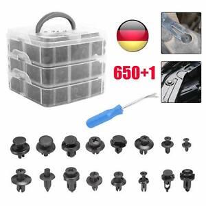 651X Car Plastic Push Pin Rivet Trim Clips Panel Fasteners Interior Fixing Tools