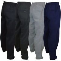 NEW MENS JOGGERS JOGGING TRACKSUIT OPEN BOTTOMS TROUSERS PANTS SIZES S to 6XL