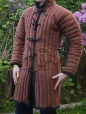 Medieval Brown padded Gambeson coat Aketon Reenactment Costumes