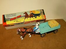 Ancien jouet / vintage toy - COUNTRY HORSE CART ( ME 641 ) Made in China 60/70's