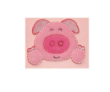 Pig - Piggy Face - Farming - Piglet - Crafts - Farm Animal - Iron On Patch
