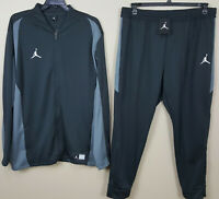 NIKE AIR JORDAN DRI-FIT BASKETBALL SUIT JACKET + PANTS DARK GREY NEW (SIZE 4XLT)