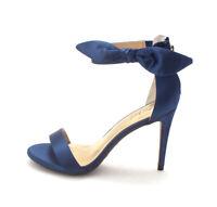 Thalia Sodi Womens Raeef Satin Open Toe Formal Slingback Sandals, Navy, Size 5.0