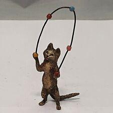 "antike Wiener Bronze "" Katze jonglierend""  signiert"