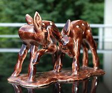 "Art Deco antike Keramik Tierfiguren "" 2 Rehkitze "" um 1930 !!!"