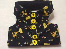 Halloween black cats handmade dog pet harness Size XS (128)