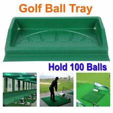 Durable Abs Golf Ball Tray Large (Can Hold 100 Golf Balls) Green 23.2x13.0x3.9""