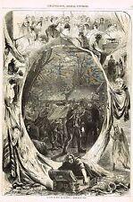 "Journal Universel - ""LA FET DE NOEL EN PICARDIE"" after Rubens - Litho - c1870"