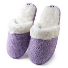 Women Winter Warm Fleece Fuzzy Plush Memory Foam Anti-Slip Slippers Indoor Shoes