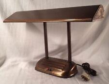 Vtg Art Deco Style Copper Finish Fluorescent Office Desk Lamp Industrial Student
