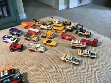 24 VINTAGE MATCHBOX   1980 s LOT CARS TRUCK TANKS NICE SHAPE  DIE CAST
