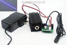 200mW 405nm Violet-Blue Purple Focusable Line Laser Diode Module w 12V Adapter