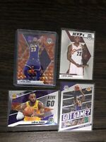 LeBron James 2019-20 Panini Mosaic Base Orange Reactive Prizm Card & Insert Lot