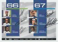 2019 Ganassi Racing Ford GT 1000 Miles Of Sebring FIA WEC postcard 5 Drivers