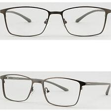 Vollrand Herren Brillengestell Titan Metall Brillenfassung Leichte Gestell Grau