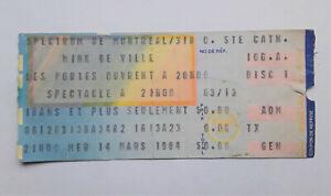 MINK DEVILLE 3/14/1984 Concert Ticket Stub Montreal Spectrum Punk Rock