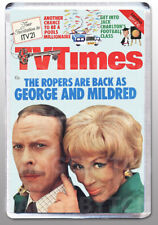 GEORGE & MILDRED - TV Times cover - LARGE FRIDGE MAGNET - 1970'S CLASSIC!