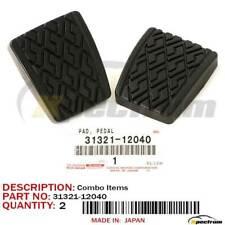 TOYOTA LEXUS FACTORY OEM 31321-12040 3132112040 CLUTCH BRAKE PEDAL PADS PAIR SET