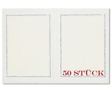 50 Stück  2-seitige Leporellos für 2 Fotos 13 x 18 cm Silberrand Bilderrahmen