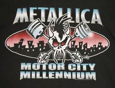 L * vtg 90s 1999 Metallica detroit NYE concert t shirt * tour * 108.12