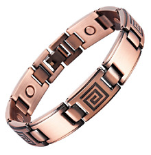 Bracelet magnétique cuivre vintage Zyrkus avec aimants