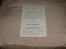 Millwall Home Teams Written - on Football Programmes