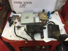 NISSAN ALMERA TINO 2003 1.8 BENZINA COMPLETO Lock Set Ecu Accensione Scatola dei fusibili ecc.