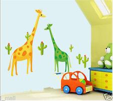 Giraffes Designer Art Decor Removable Wall Sticker kids