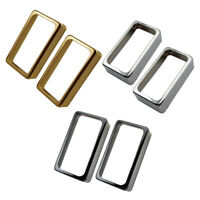 2x Brass Double Coil Humbucker Pickup Covers for Electric Guitar Accessories