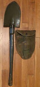 Vintage US MILITARY AMES E-TOOL Folding Shovel / Pick 1966 Vietnam War