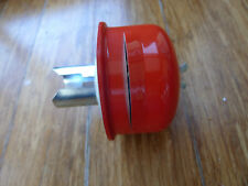 """Vtg Red Car Truck Oil Filler Breather Cap, Cleanable, Fits 1 1/4"""" Hole"""
