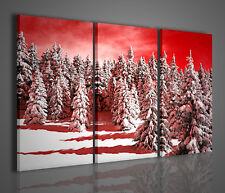 QUADRO MODERNO SNOW FOREST STAMPA SU TELA QUADRI MODERNI PAESAGGIO NEVE MONTAGNA