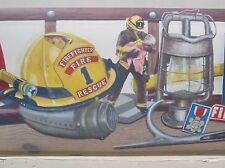"""FIREFIGHTER FIREMEN   Wallpaper Border 7 3/4"""""""
