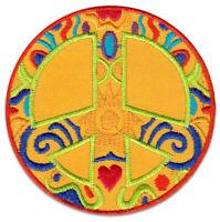 Peace Frieden Symbol Goa Flower Power Hippie Aufnäher Patch Bügelbild Aufbügler