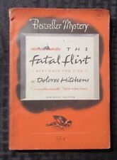 1954 THE FATAL FLIRT by Dolores Hitchens VG Bestseller Mystery Digest #184