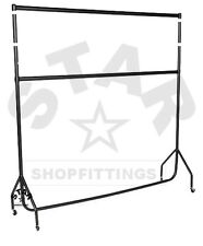 DOUBLE 6Ft Long x 7ft High HEAVY DUTY CLOTHES GARMENT DRESS RAIL RACK STAND NEW