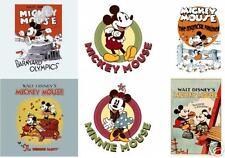 Mickey  Minnie Mouse  Vintage Transfer Iron on 8x10