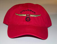 STEARMAN Cap Yellow with Navy logo  FREE SHIPPING