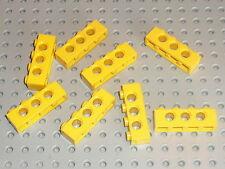 Barres perforées LEGO TECHNIC yellow  bricks with holes 1 x 2 ref 3700