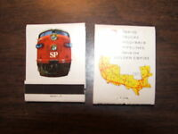 SOUTHERN PACIFIC RAILROAD UNUSED BOOK OF MATCHES