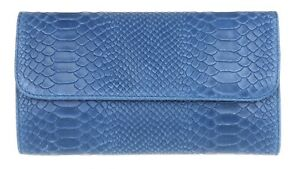 Snake Print Genuine Suede Clutch Bag Italian Leather Vera Pelle Evening Handbag