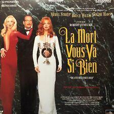 LASERDISC * -LA MORT VOUS VA SI BIEN - VF PAL - Bruce Willis, Meryl Streep -RARE